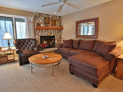 Comfy Trout Creek Condo #142 - 2 Bedrooms, 2 Baths with Kitchen, Fireplace. Pretty Wooded View