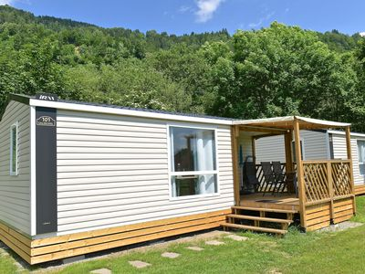 Photo for New luxury mobile home on a small, friendly campsite on the river Drau