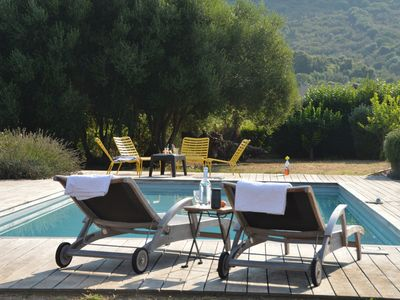 Photo for Villa 8 pers, St Florent, PRIVATE POOL, Sea, Mountain, Vineyards