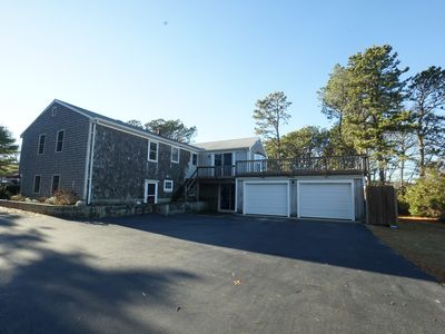 Photo for Waterview,  500 yards to warm Ocean Beaches, huge Deck, Linens, WiFi, AC, Dog