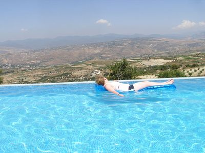 Photo for private Villa, not overlooked,  large pool, Hot tub,Wi-Fi, 15mins from Paphos