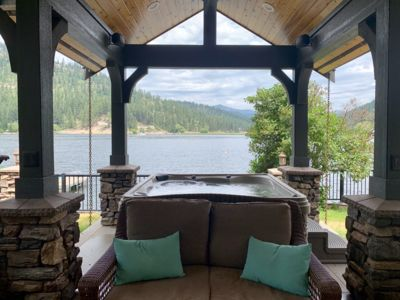 Photo for Waterfront, private dock, hot tub,  outdoor kitchen and pavilion