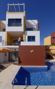 Spacious terraces and large swimming pool.