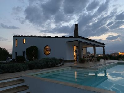 Photo for Idyllic 3 Bedroomed Modern Villa With Infinity Pool And Glorious Views