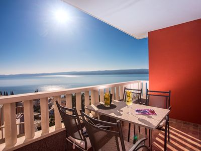 Photo for Modern apartment Bakota in Duće with amazing sea view, 200m from the beach
