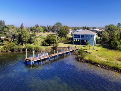 Photo for Waterfront Crystal River Ozello Island Home - private dock/pier and sunset views