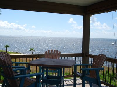 Photo for PRIVATE PIER Custom beach front home with awesome views of Horn Island.