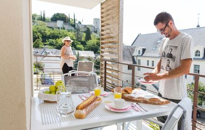 Enjoy the fresh air from the balcony or terrace.