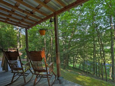 Photo for Rustic Briceville Cabin w/ Porch Tucked in Forest!