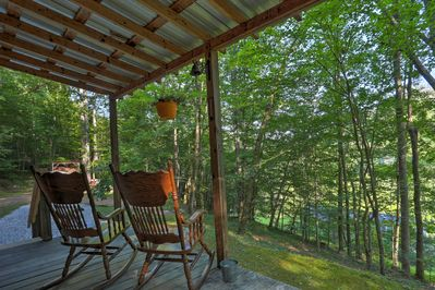 Watch the sunrise each morning at this 1BR, 1-bath vacation rental cabin.