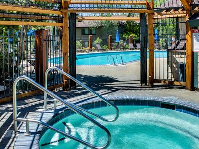 Photo for NEW LISTING! Bright condo w/shared outdoor pool, hot tub, tennis, sauna