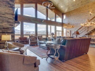 Photo for Majestic Overlook  12 King Suites  Amazing Mountain Views  Game Room  Movie Theater  WiFi  Hot Tub