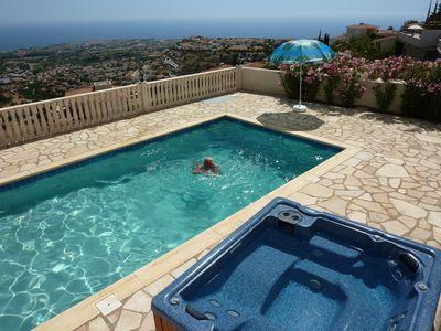 Photo for Peyia South Cyprus 3 Bed Villa Private pool Jacuzzi WiFi Sky TV Panoramic views