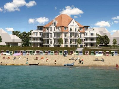 Photo for Traumwohnung castle by the sea, 84 QM2, 1a the beach, frontal sea view, 4 stars