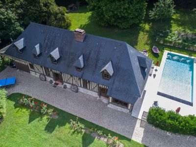 Photo for Splendid Authentic Normandy House with Pool and Tennis