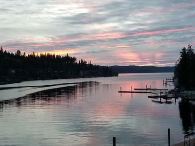 Photo for Lakefront, Private Dock, Great Views, Close to Town, Golf, Paddle Boats, Firepit