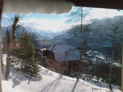 Les Diablerets valley, view from bed- and bathroom