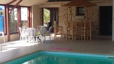 Photo for Holiday in a cottage with heated pool