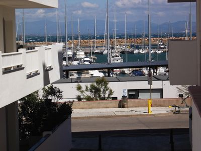 Photo for Comfortable Apartment With Views of the Port and shared pool, parking and WIFI