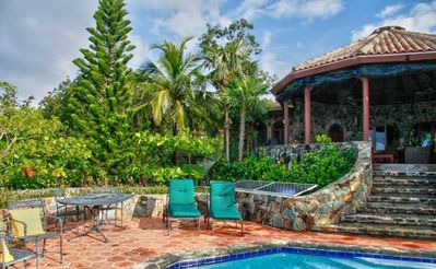 Photo for Beautifully built Stonehouse overlooking Coral Bay Harbor