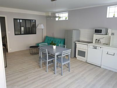 Photo for Ground floor apartment in the city center - 5 minutes walk from the beach