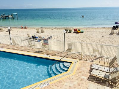 Photo for TS Pool, Ocean, Dock, Tennis, Sandy Beach, full kitchen, family friendly, BBQ