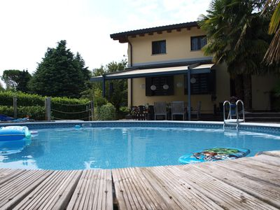 Photo for Spacious luxury Villa located 100 meters from the beautiful Lake Maggiore