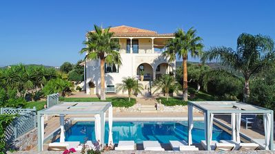 Photo for Luxury Villa with pool, located on a prominent hill, a few minutes to the sea.