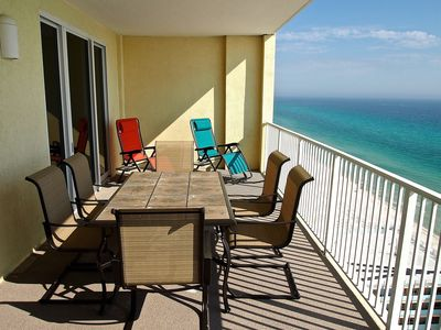 Photo for Ocean Reef 2 Bed/2 Bath W/ Huge, Gulf-Front Balcony, and Endless Views!