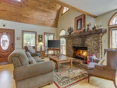 Photo for NEW LISTING! Two creekside cabins w/ decks, fireplaces, firepit & game room!