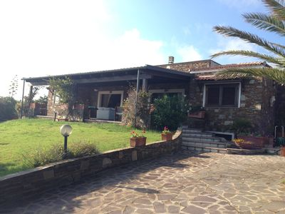 Photo for Villa Francesca with stunning views just steps from the sea