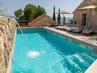 Photo for Three Stone villas with pool, terrace with sea views, top location, luxury,
