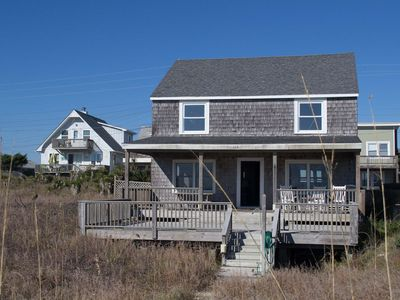 Photo for CLASSIC OCEANFRONT HAS 1ST FLOOR BEDROOM, LARGE SUNDECK. EASY ACCESS TO BEACH