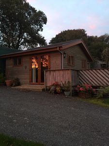 Photo for Delightful Log Cabin, ideal for visiting the Brecon Beacons and Gower peninsula