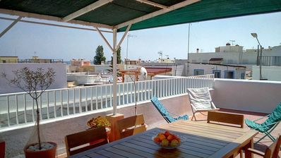 Photo for House, 300m beach, wifi, air conditioning, patio, terrace, all on foot - for 6 people