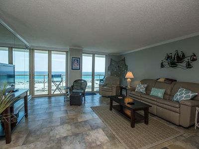 Photo for Beautiful Beach Views from this condo in Pensacola Beach ~ Community Pool~ Steps to the Beach!