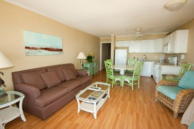 Ocean Dunes 405 - Living Room - Relax in style at the beach in this oceanfront villa.