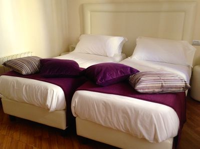 The Twin Beds are of excellent workmanship: complete rest is guaranteed.