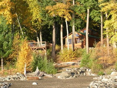 Photo for Kootenai Hideaway Lakefront Cabin