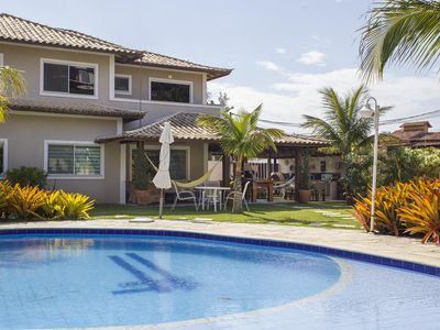 Photo for Beautiful house with four suites, in condominium, between Geribá and Ferradurinha