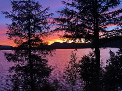 Photo for Camp Knoll Crest - Sunset Views on Lake Placid