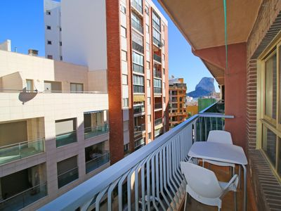 Photo for Spacious Aitana apartment with air conditioning in the center of Calpe, close to the beach