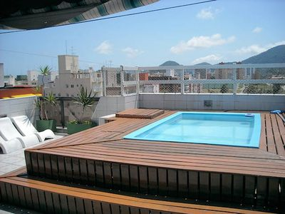 Photo for Duplex penthouse w / pool and privat barbecue, 4 bedrooms, Enseada- Guaruja