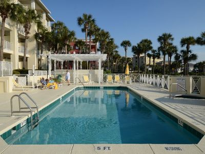 Photo for Beautiful Condo Steps from the Beach with Lovely Large Patio.