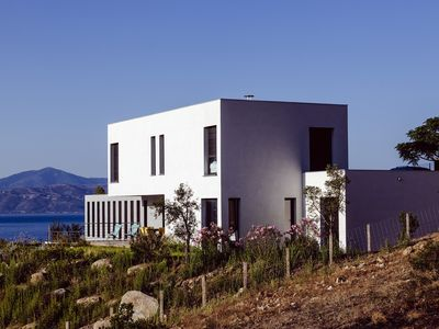 Photo for CONTEMPORARY VILLA EXCEPTIONAL SEA VIEW, QUIET POOL SAGONE SOUTH CORSICA