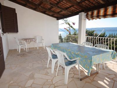 Photo for Two bedroom apartment with terrace and sea view Nemira (Omiš)