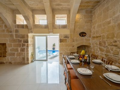 Photo for Luxurious family friendly farmhouse with private pool in Sannat, Gozo