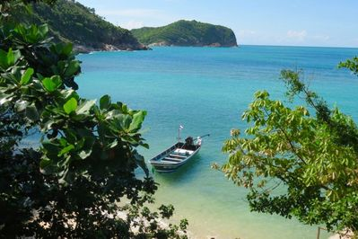 Our beautiful bay of Haad Thong Lang. View from our Hammock Sala