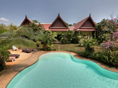Photo for Phuket Superb and large tropical Thai style villa.