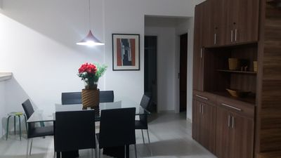 Photo for APT NEW, FRONT TO THE SEA, LARGE VARANDA WITH BARBECUE. WI-FI FREE